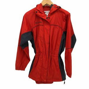 Columbia Sportswear Womens Raincoat Red Hooded S
